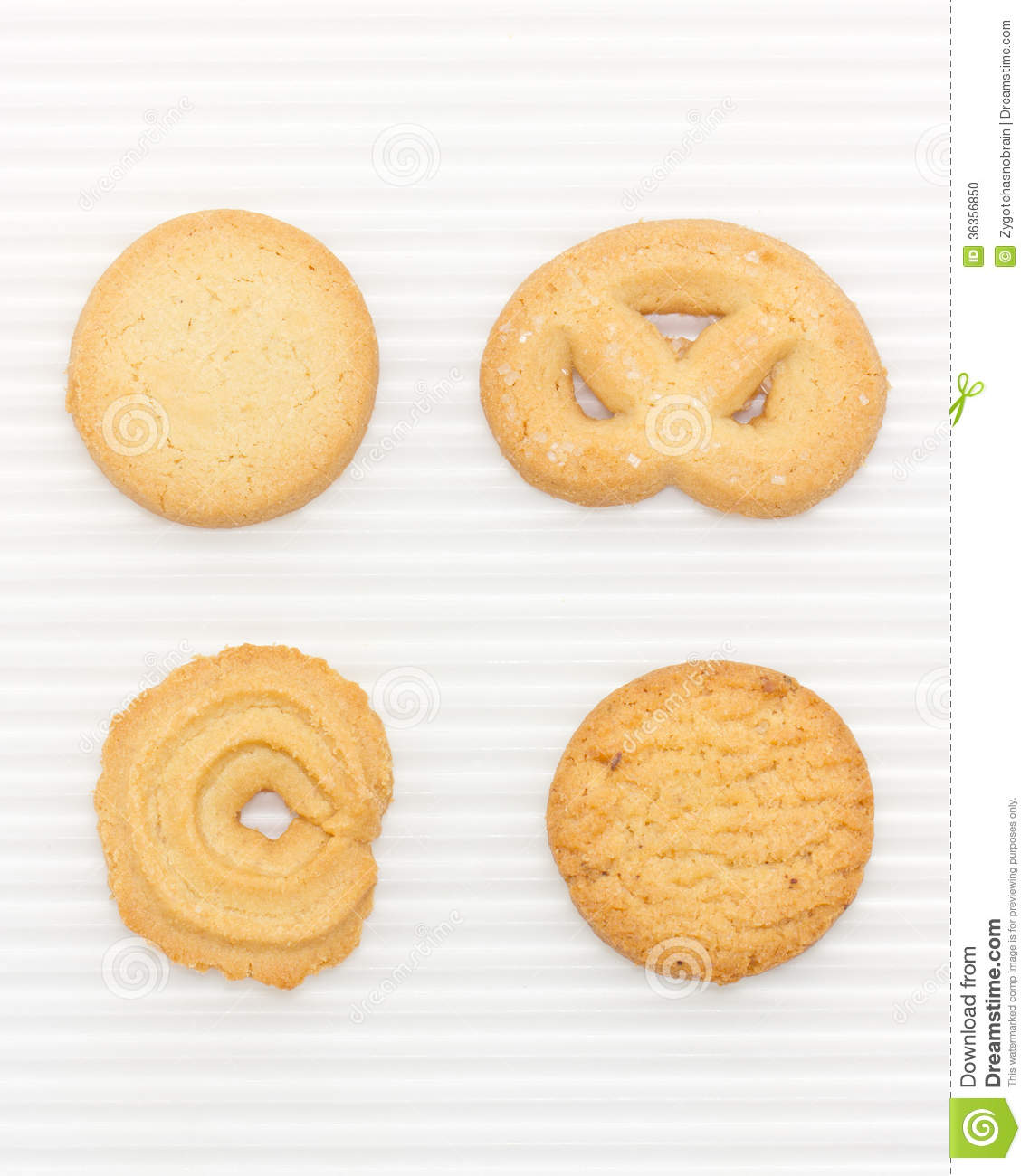 Butter Cookies Set. Stock Photo.