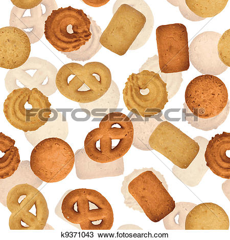 Clipart of Danish butter cookies.