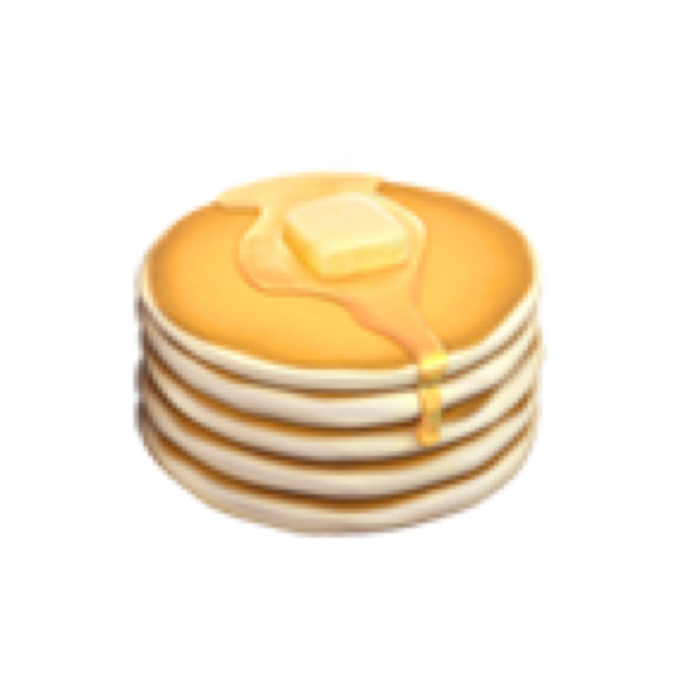 pancakes butter emojisticker emojis emoji yellow food.