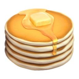 Pancakes Emoji (U+1F95E).