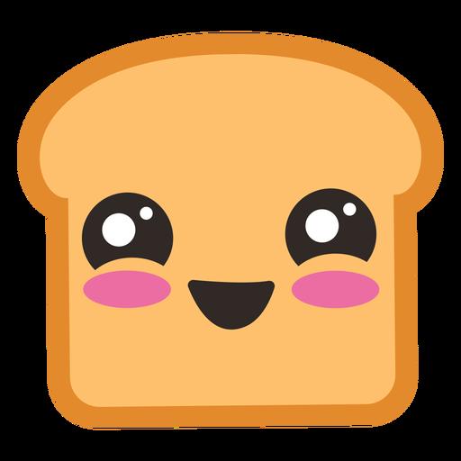 Cute toast emoji.