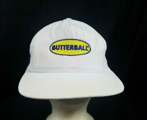 Vtg Butterball Turkey Hat Discolored Strapback Nylon Cap.