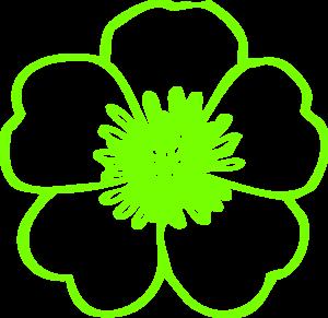 Lime Green Buttercup Clip Art at Clker.com.