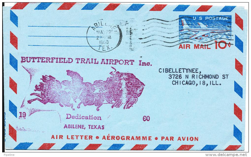 USA Aerogramme Butterfield Trail Airport inc. Dedication Abilene.