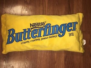 Details about Large Nestle Butterfinger Candy Bar Logo Pillow Blue Yellow  24\