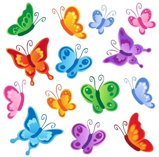 Download Butterflies Vector Clipart HQ PNG Image.