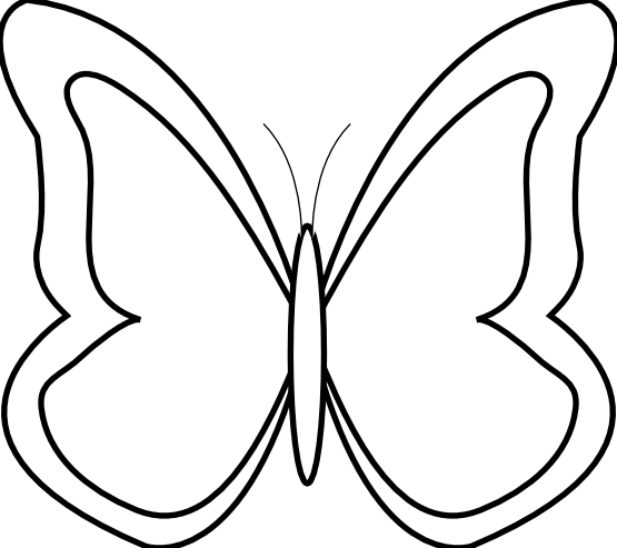 Butterfly Black White Flower Shrub xochi.info SVG xochi.