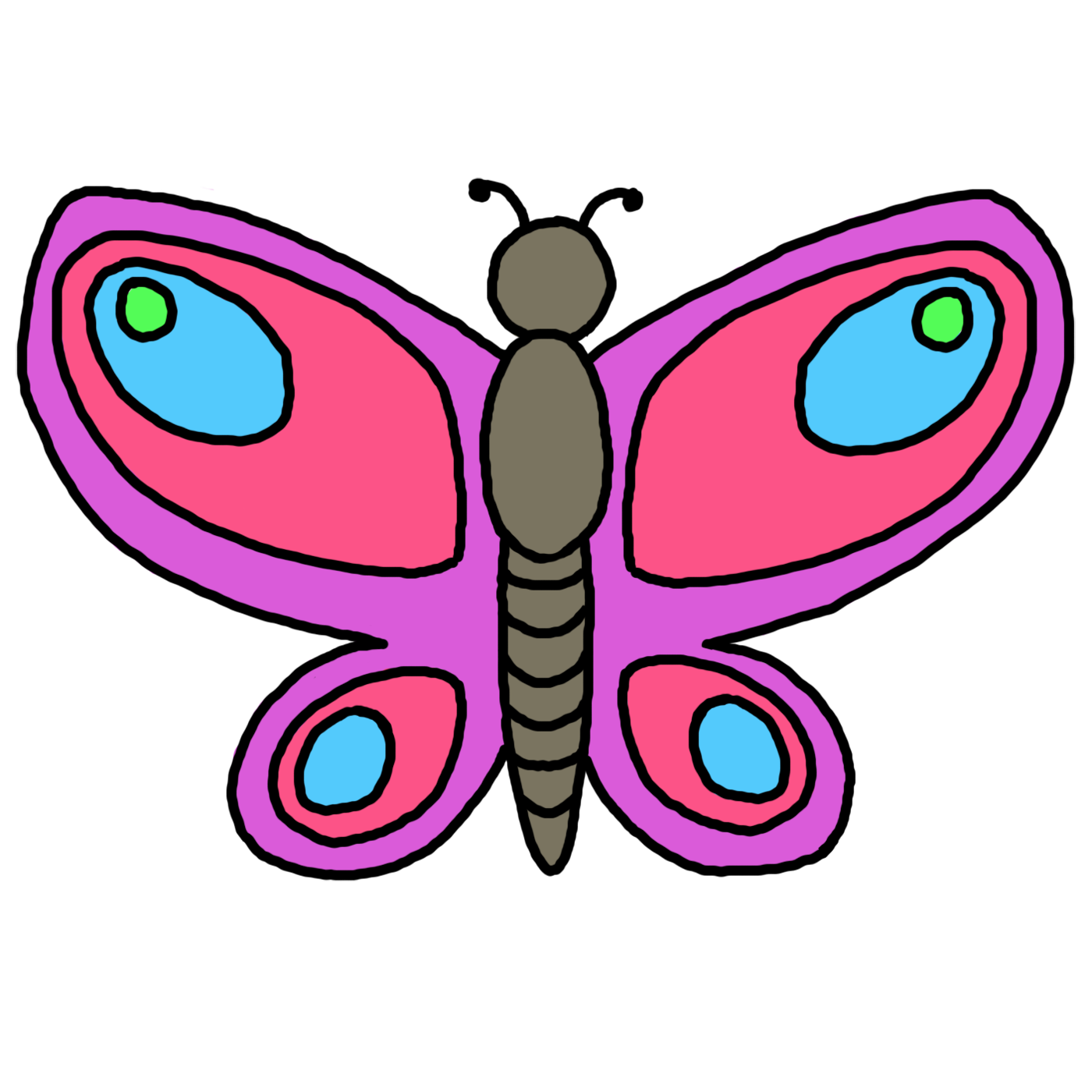 Small butterfly clipart - Clipground