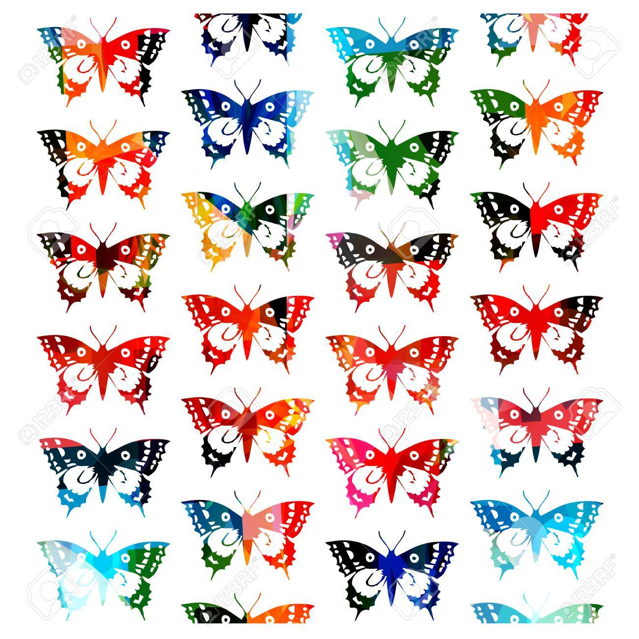 Colorful butterfly designs clipart 4 » Clipart Portal.