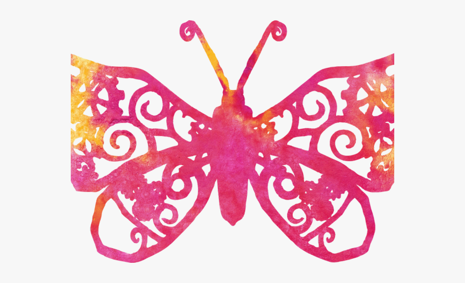 Butterfly Design Clipart Transparent Background.