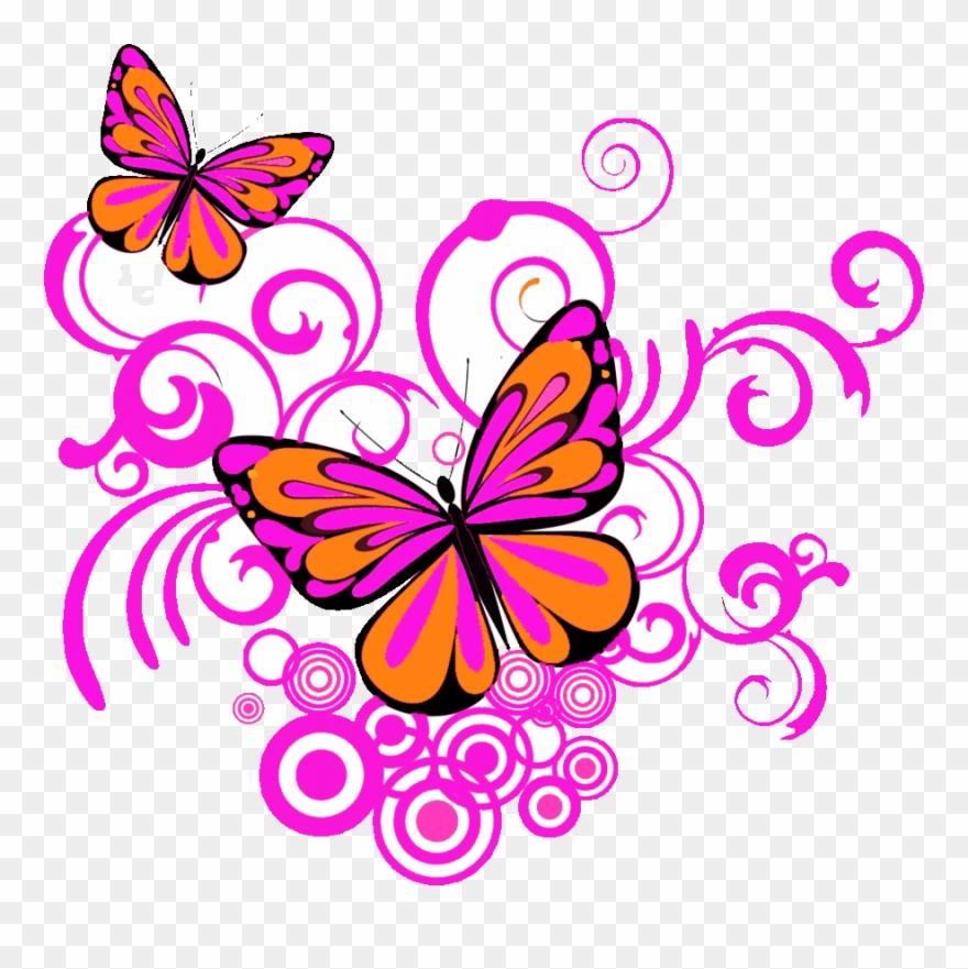 Butterfly Corner Designs Png Clipart Clip Art.