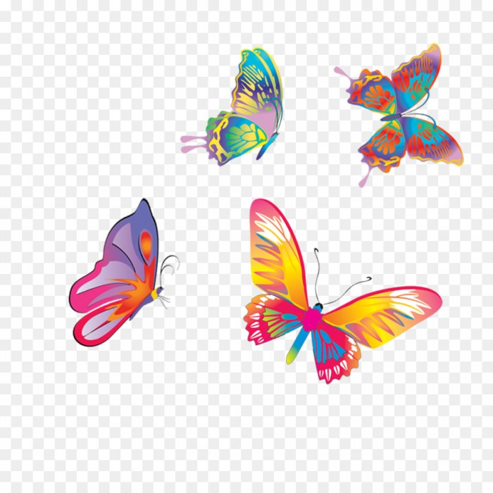 Butterfly Colored Butterflies Fly Colorful Flying Butterfly Png.