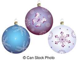 Clipart of Snowflake Butterfly on Christmas Ornament.