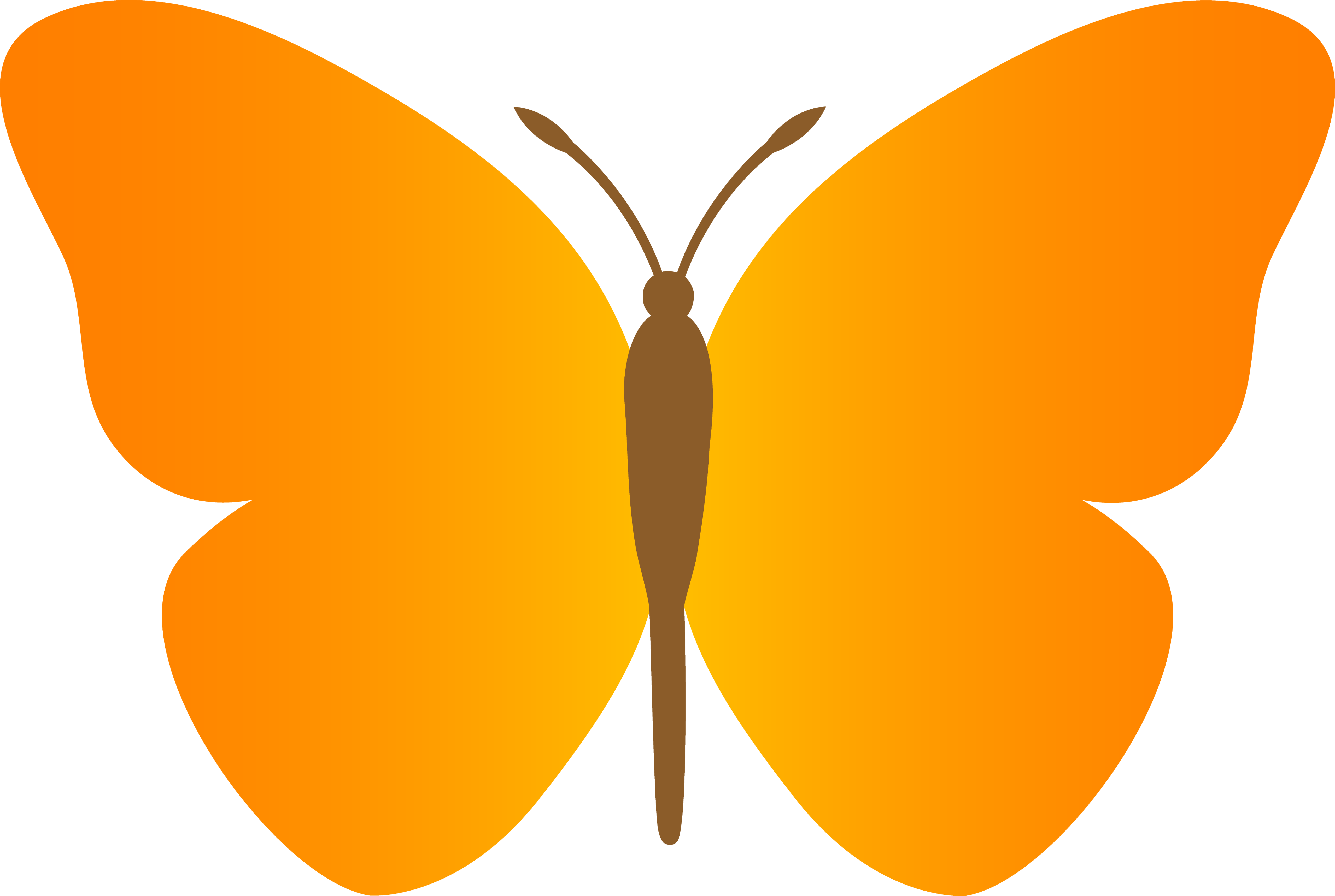 Free cartoon butterfly clipart.