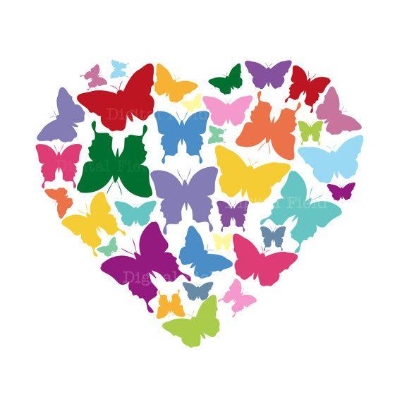 Butterfly Clip Art Set.