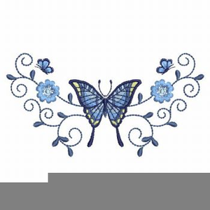 Butterfly And Cross Clipart.
