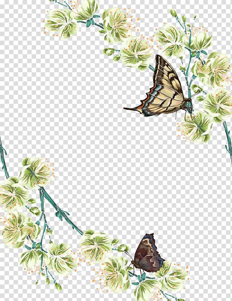 Butterfly Flower Adobe Illustrator, Spring Flowers Butterfly.