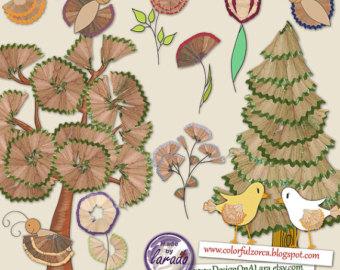 Butterfly Clipart PNG Digital Butterflies Scrapbooking Card Making.