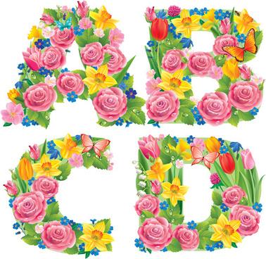 Spring flowers grass butterflies clip art free vector download.