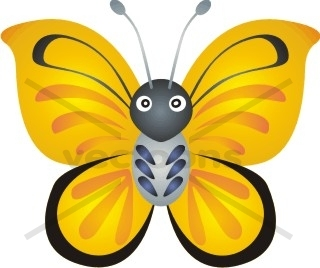 Cartoon animals clipart butterfly.