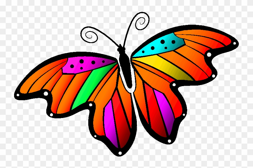 Monarch Butterfly Clipart Gif Animation.