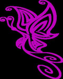 Butterfly art clipart.