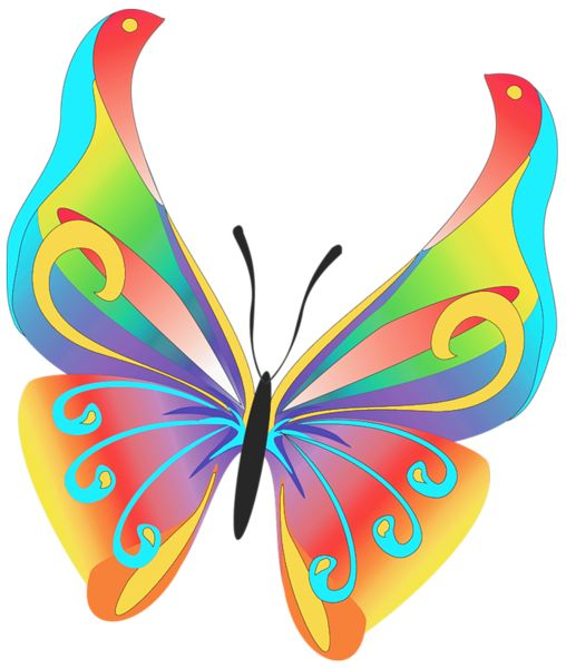 Butterfly Art PNG Clipart.