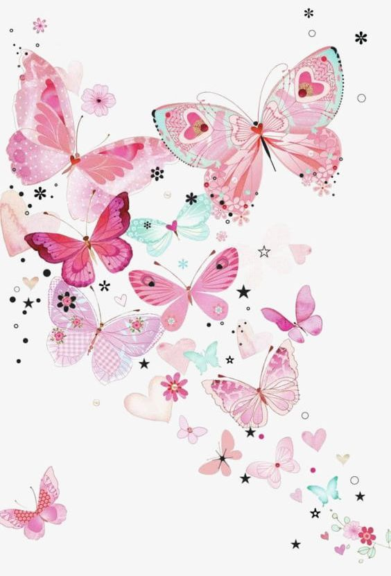 Pink Butterfly Background PNG, Clipart, Background.