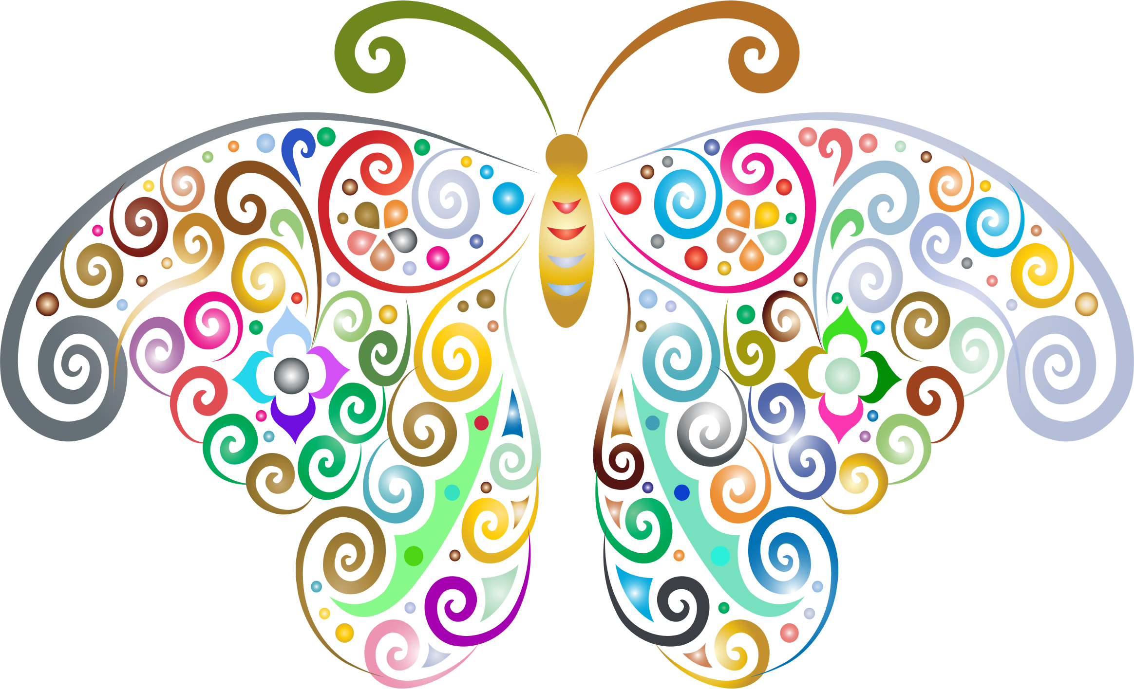 Butterfly Background Clipart.