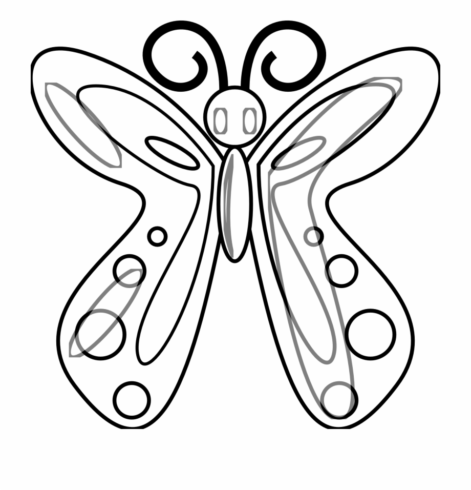 Butterfly Black And White Butterfly Clip Art Black.