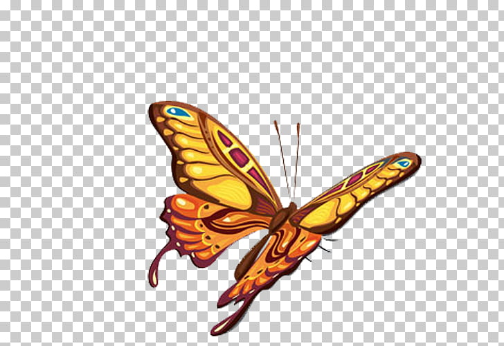 Monarch butterfly Abziehtattoo Body art, butterfly PNG.