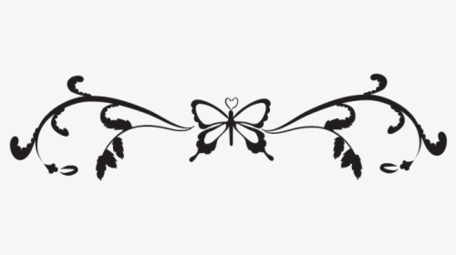 Butterfly Black And White Border Clipart Butterfly.