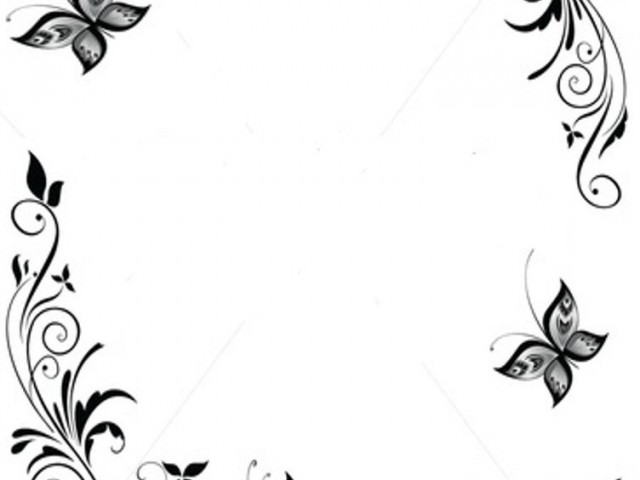 Free Border Design Black And White Butterfly, Download Free.