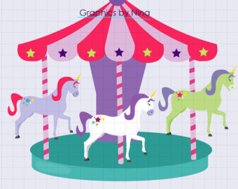 Butterfly carousel clipart.