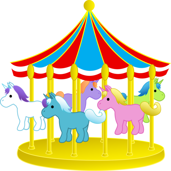 carousel ponies.