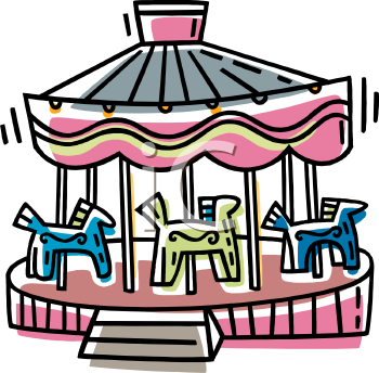 Royalty Free Clip Art Image: Horse Carousel.