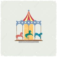 Vintage Carousel Clipart.