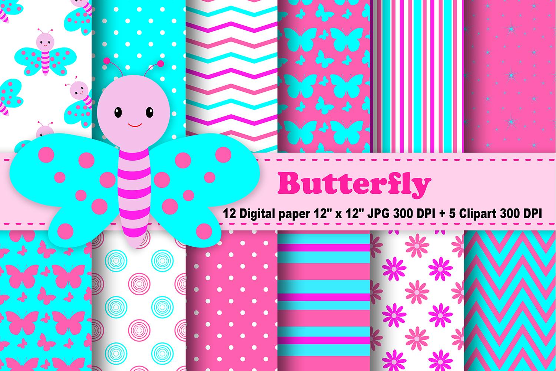 Butterfly Digital Paper, Rainbow Butterflies, spring digital paper,  butterflies background, Butterfly Clipart, butterflies Clipart, Flowers,  Pattern..