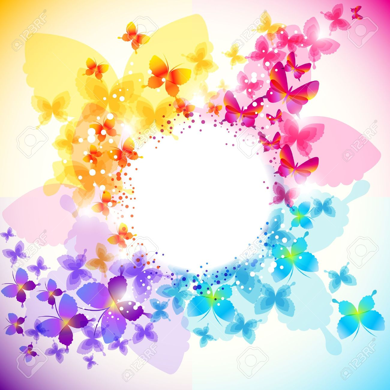 Elegant butterfly background with space for text.