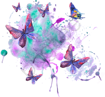 Watercolor Butterfly Background Vector, Watercolor Vector, Butterfly.