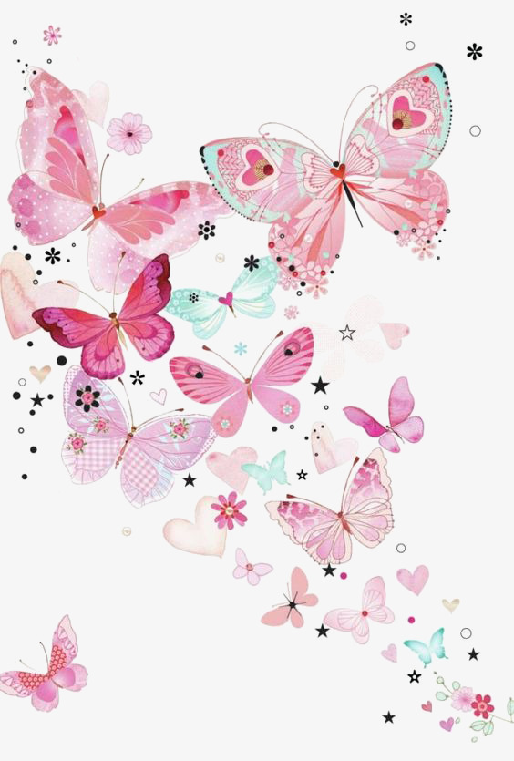 Pink Butterfly Background, Butterfly Clipart, Butterfly, Pink PNG.