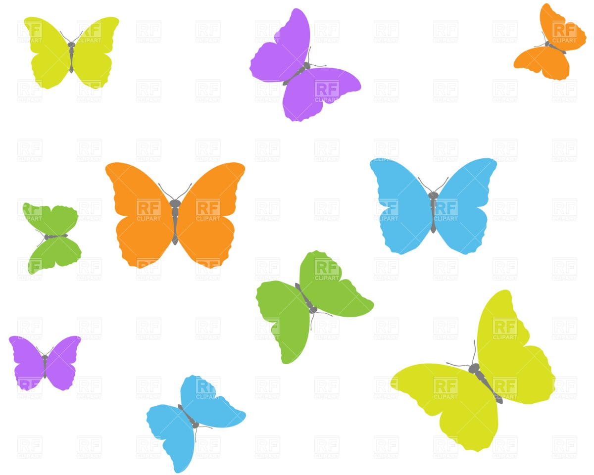 Butterfly background Free Vector Image.