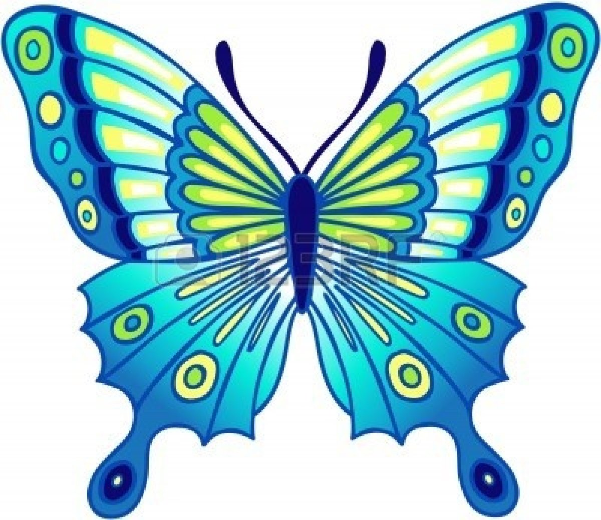 Blue Butterfly Clipart.