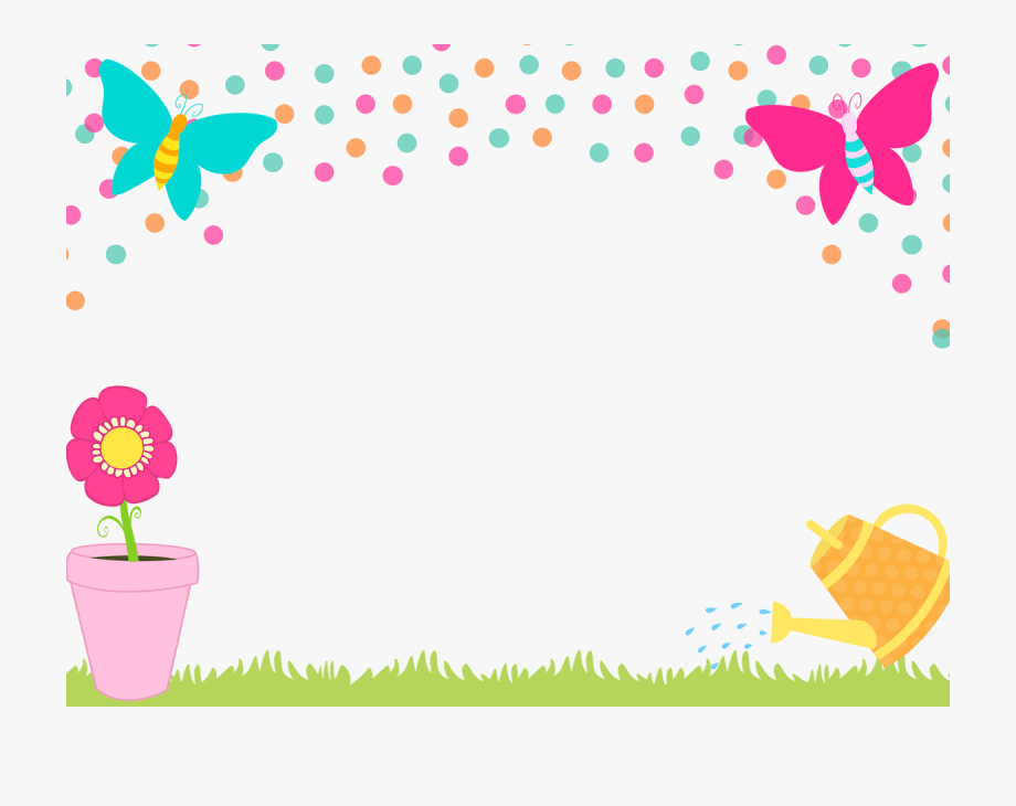 Manycam Fun Border Spring Time Flower And Butterfly.
