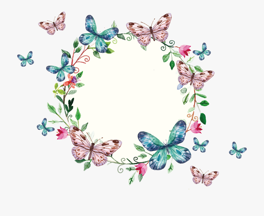 Clipart Borders Butterfly.