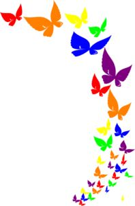 Butterfly Border Clipart Free.