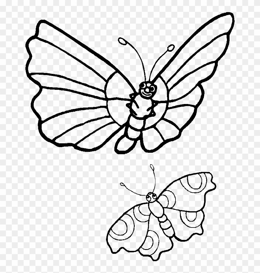 Coloring Pages Caterpillars Cartoon.