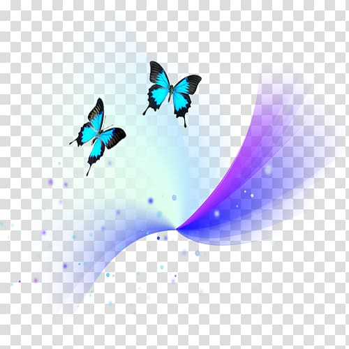 Butterfly Light, scape effects transparent background PNG.