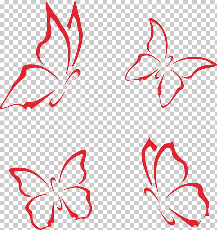 Butterfly Template Computer file, Decorative Butterfly, four.