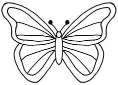 butterfly clipart black and white outline   Clipart Free.